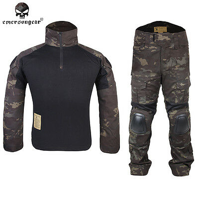 Gen2 Cype Style EMERSON Combat Uniform Tactical Hunting BDU MultiCam Black 6971