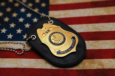 Special Agent Dss Fast Furious Luke Hobbes Badge With Holder & Chain-US125
