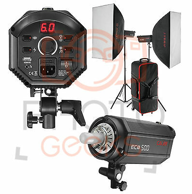 Flash Softbox Light Kit - 1000w 2x500w -JINBEI Strobe Photography Studio Pro Set