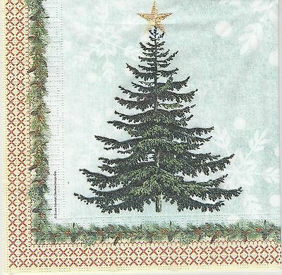 Lot de 2 Serviettes en papier Sapin de Noël Zèbre Decoupage Collage Decopatch