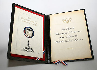 Bicentennial Coins Book 1976 Official Sterling Silver Commemorative Coin