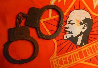 Vintage USSR Russian Military Police Handcuffs cuffs