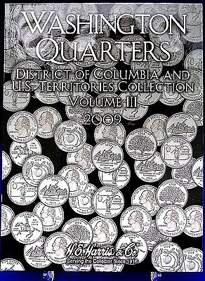 HE Harris Washington State And US Territories Quarters  2009 Coin Folder Vol #3