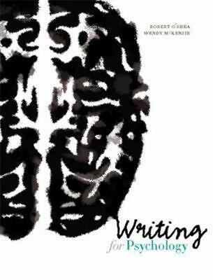 Writing for Psychology 6th Edition by Robert O'Shea Spiral Book Free Shipping!