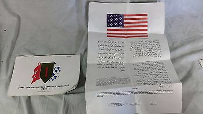 Operation Iraqi Freedom Transition Team Battle Book and Soldier Flyer