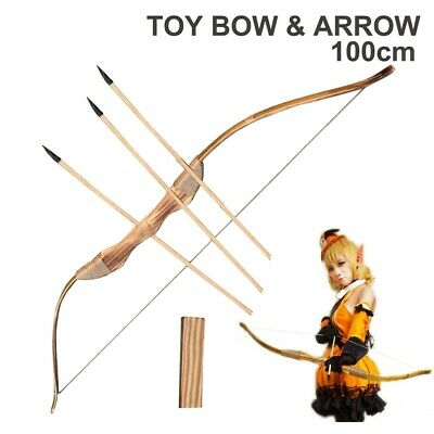 Toy Wood Bow and Arrow Archery Set Cosplay Kid Children Hallowin Sporting Gift