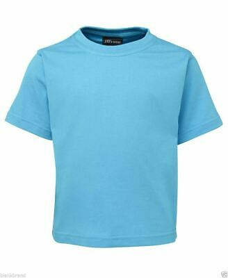Kids Plain T-Shirt | Children Blank 100% Cotton UPF Tee | Size 2 4 6 8 10 12 14