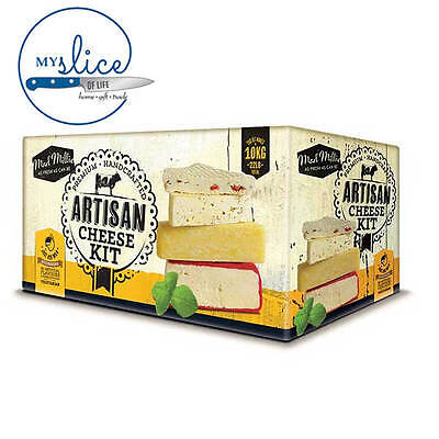 Mad Millie Artisan Cheese Making Kit - Mozzarella, Ricotta, Chevre, Cheddar