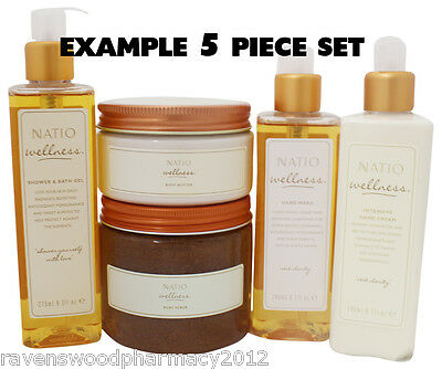 Natio Wellness 5 Piece DELUXE BODY CARE KIT = Choose Your Products!! VALUE