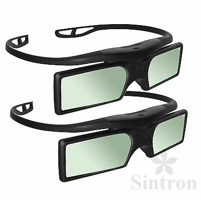 [Sintron] 2X 3D Active Glasses for 2017 Panasonic 3D TV & TY-ER3D4MA TY-ER3D4ME