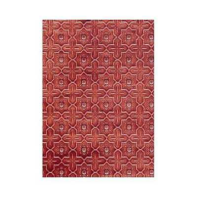 Dolls house 12th scale Wallpaper: WHITE embossed Dado paper