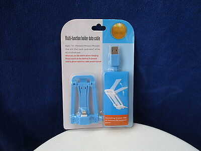 Multi-Function Holder Data Cable Iphone 5, 5S, 5C
