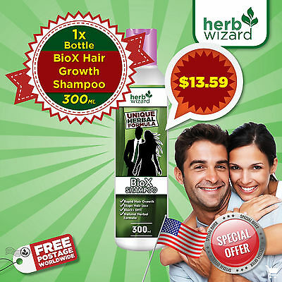 Hair Loss Shampoo for Hair Growth | HERB WIZARD BioX  | For Men & Women