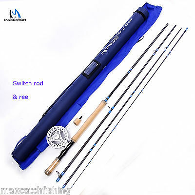 6 Weight Switch Fly Rod 11FT 4PCS With 5/6WT Fly Reel Silver Fishing