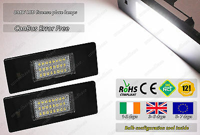 Canbus LED No Error Free BMW E87 E63 E46 E89 F20 Mini R55 License Plate Lights