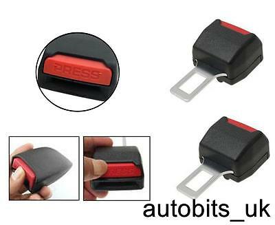 2 Universal Car Safety Seat Belt Tongue Buckle Lock Extender 21 Mm Wide Uk Stock
