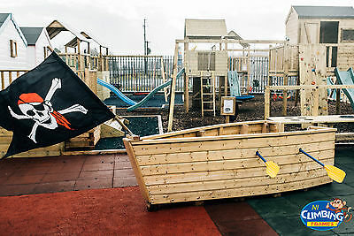 Pirate Ship Boat Wooden Playgroup Creche Playground Outdoor School GREAT VALUE