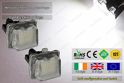 Canbus LED No Error Free Mercedes C E Class W204 W212 W221 Licence Plate Lights