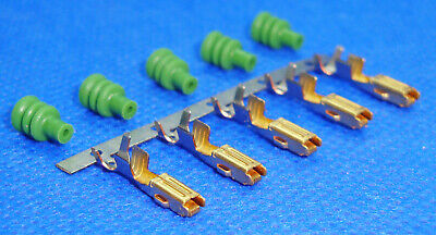 TD5 Engine ECU Connector Gold Tipped Terminals & Wire Seals x 5 - AMP Econoseal