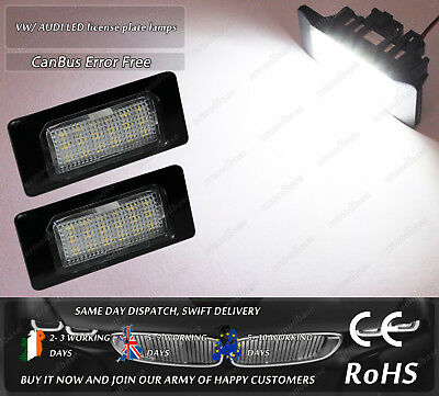 Canbus LED No Error Free Audi A4 A5 A7 VW Golf Jetta Passat Licence Plate Lights