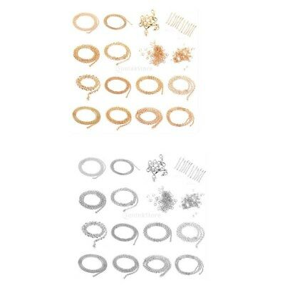 Making Necklace Bacelet Jewelry Set Supplies Starter Kit Chains Clasp Snap Rings