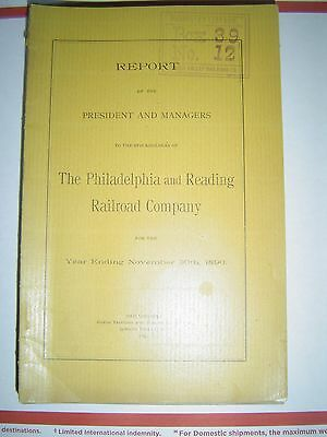 Report of the President & Managers Philadelphia & Reading Railroad Co. 1890