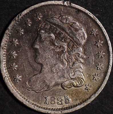 1835 Capped Bust Half Dime Very Fine Details Environmental Damage