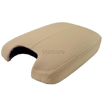 OEM Tan Real Leather Console Lid Armrest Cover For 2008-2012 Honda Accord SR1G