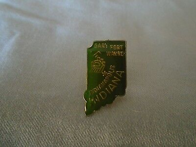 Vintage State of Indiana Pin