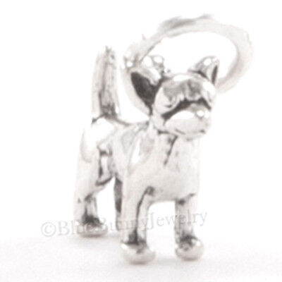 Tiny 3D CHIHUAHUA Dog Bracelet Charm Pendant 925 STERLING SILVER Very Small Mini