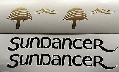 2 Sea Ray Sundancer Decals FREE SHIP Sun Dancer Boat Decals Gold and Black set