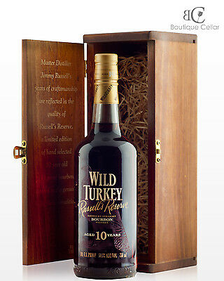 Wild Turkey 10yo Russells Reserve Kentucky Bourbon Whiskey 750ml SIGNED by Jimmy