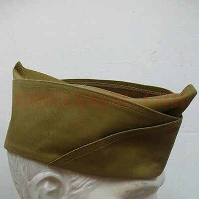 WWII US Army Enlisted PX Dark Khaki Garrison Cap 58 Free Shipping