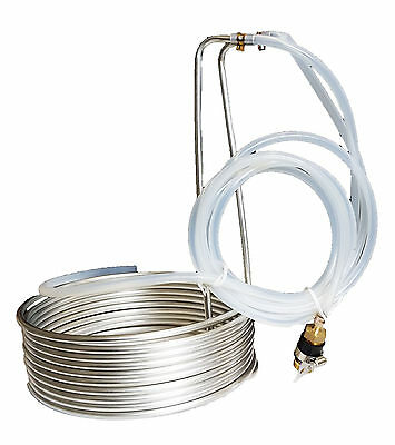 Economic 8.8M Stainles Steel Wort Chiller for All-Grain Brewing Mashing
