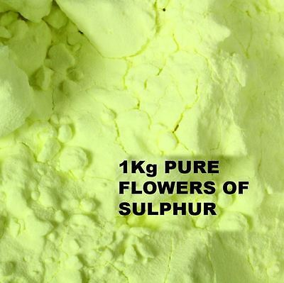 FLOWERS OF SULPHUR POWDER 1Kg - 99.99 % HIGH PURITY SUBLIMED - HEALTH REMEDY