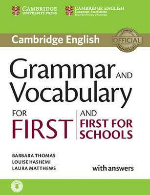 Grammar and Vocabulary for First and First for Schools Book by Barbara Thomas (E