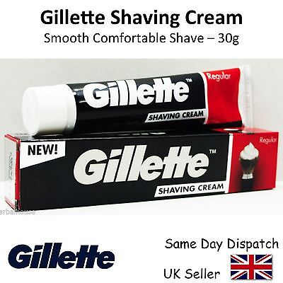 GENIUNE GILLETTE SHAVING CREAM for a Smooth Comfortable Shave - 30g