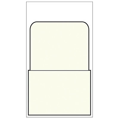 Library Book Pockets- Self-Adhesive - Plain- 500/Box