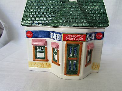 Coca Cola Sweet Shop  Canister Collection 1997 Miniature Building