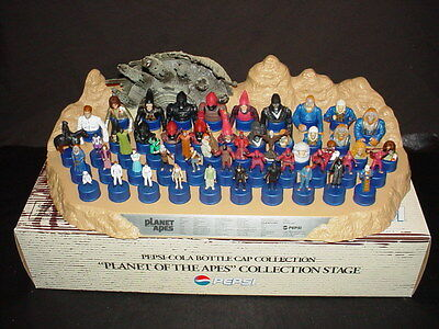 Planet of the Apes Pepsi Collection Stage with 52 Complete Cap Collection Japan
