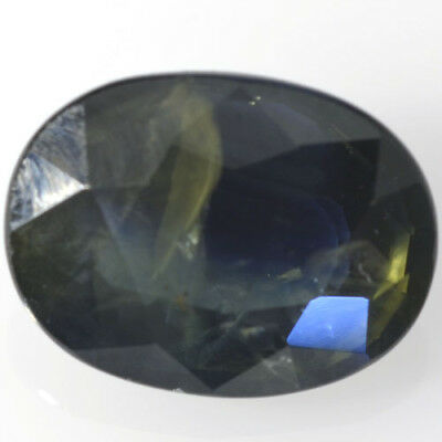 Gema de ZAFIRO AZUL NATURAL en TALLA OVAL de 1.53ct. 7x5mm. SOLO CALOR!!!
