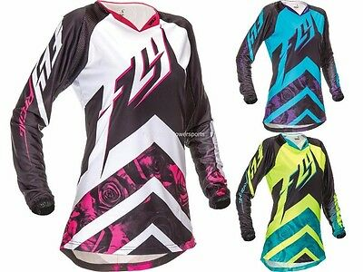 Fly Racing Kinetic Women's Girl's Lady's Riding Jersey Motocross MX ATV Gear '16
