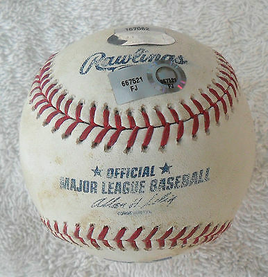 Mariners V Boston Red Sox Official Match Used Mlb Baseball Fenway Pk 2011 Coa