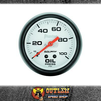 "Autometer Oil Pressure Gauge Mechanical 2.5/8"" 0-100 Psi - Au5821"