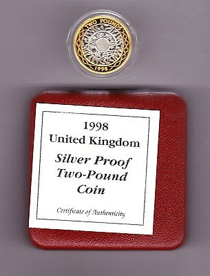 1998 Boxed Standard Silver Proof £2 Bi-Colour