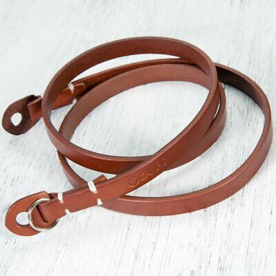 CANPIS Brown Genuine Leather Camera Neck Shoulder Strap for SLR DSLR Leica Fuji