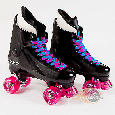 Ventro Pro Turbo Quad Roller Skate, Bauer Style - Blue Pink