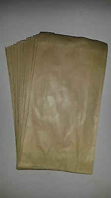 100 Small Brown / Kraft Paper bags 10x18.5cm- Perfect for small Items New