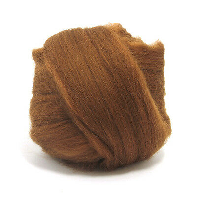 50g Dyed Merino Wool Top Chocolate Brown Dreads Needle Spinning Felting Roving