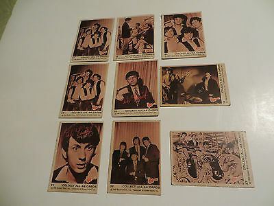 Monkees trading cards, lot of nine.